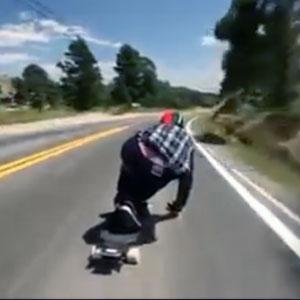 Skate em altíssima velocidade