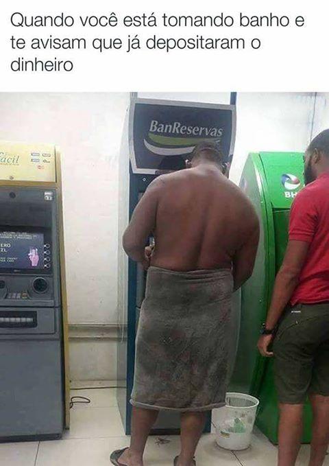 Medo do banco me roubar!