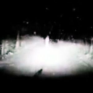 Dirigindo na escuridão e na neve!