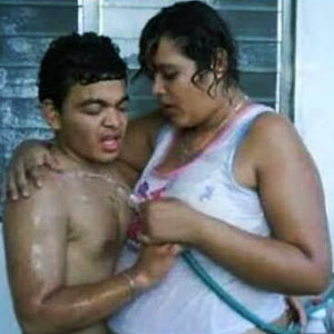 Pobres tomando banho