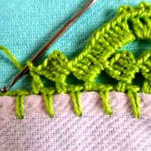 Bicos de Crochê - Caseado Carreira Única (Passo a Passo)