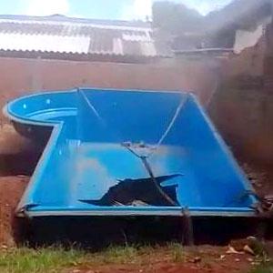 Instalando uma piscina em casa