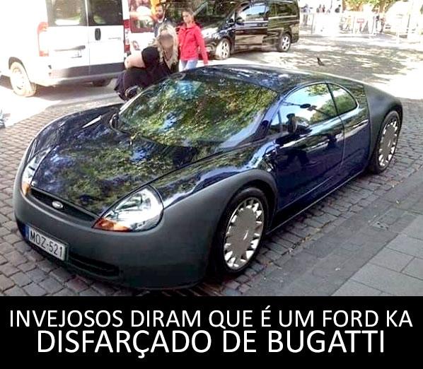 Ford Ka disfarçado de Bugatti