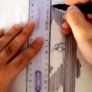 Desenhando com régua
