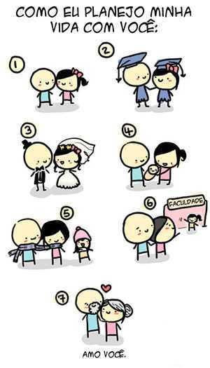 tirinha planejamento amor