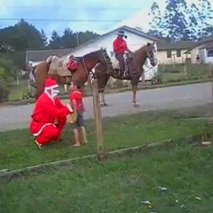 Papai Noel a cavalo