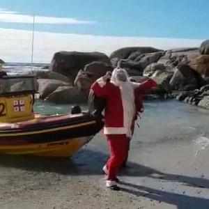 Papai Noel chegando no Brasil