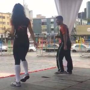 Fazendo multidão exercitar