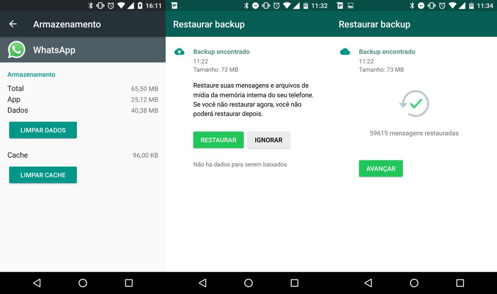 Restaurar Conversas WhatsApp Android